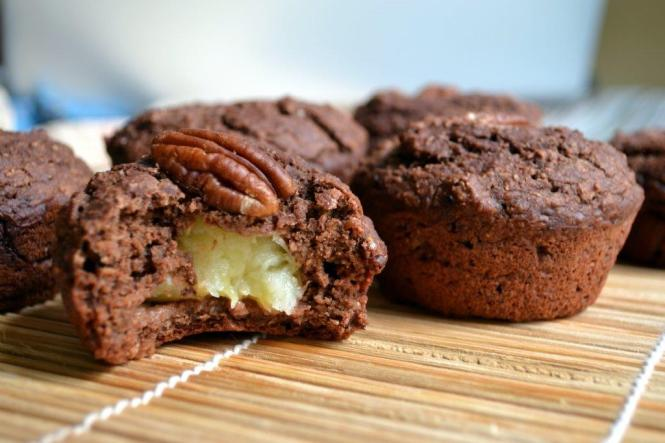 Шоколадные маффины с бананом (4)