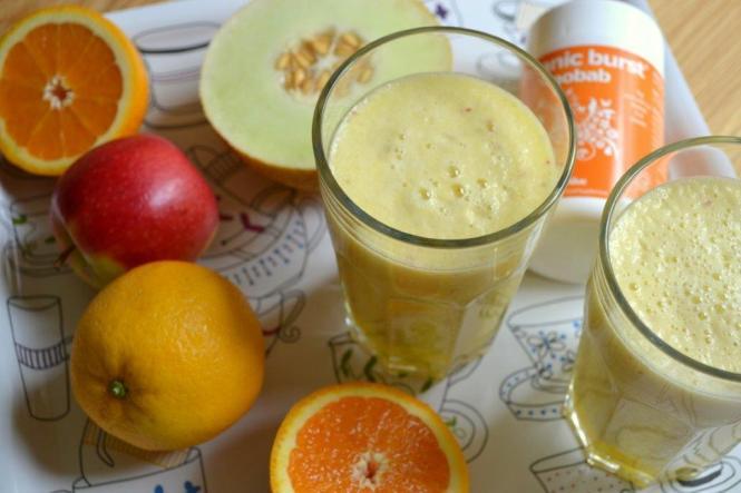 Смузи с дыней и апельсином